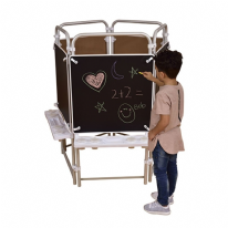 5 sided Easel Set with 5 Magnetic Chalkboards